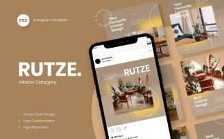 Rutze - Interior Instagram Post Template