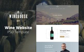 Winehouse - Wine Website Design PSD Template