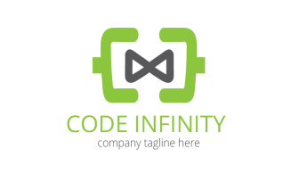 Code Infinity Logo Template