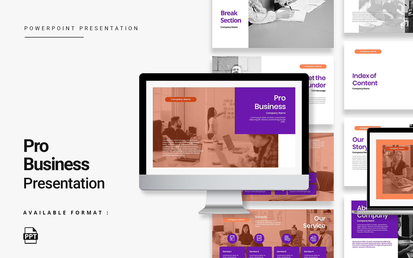 Pro Business Presentation PowerPoint Template