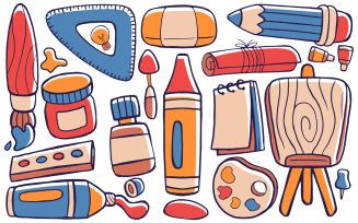 Art Studio - Doodle Vector #01