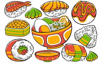 Japan Food - Doodle Vector #01