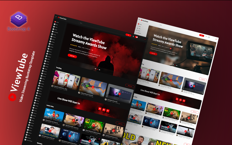 ViewTube - Video Streaming Bootstrap Responsive Website Template