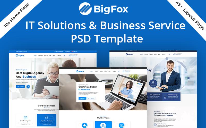 BigFox IT-oplossing Zakelijke service PSD-sjabloon