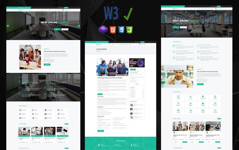 Educam | HTML-sjabloon voor onderwijs en online cursussen.