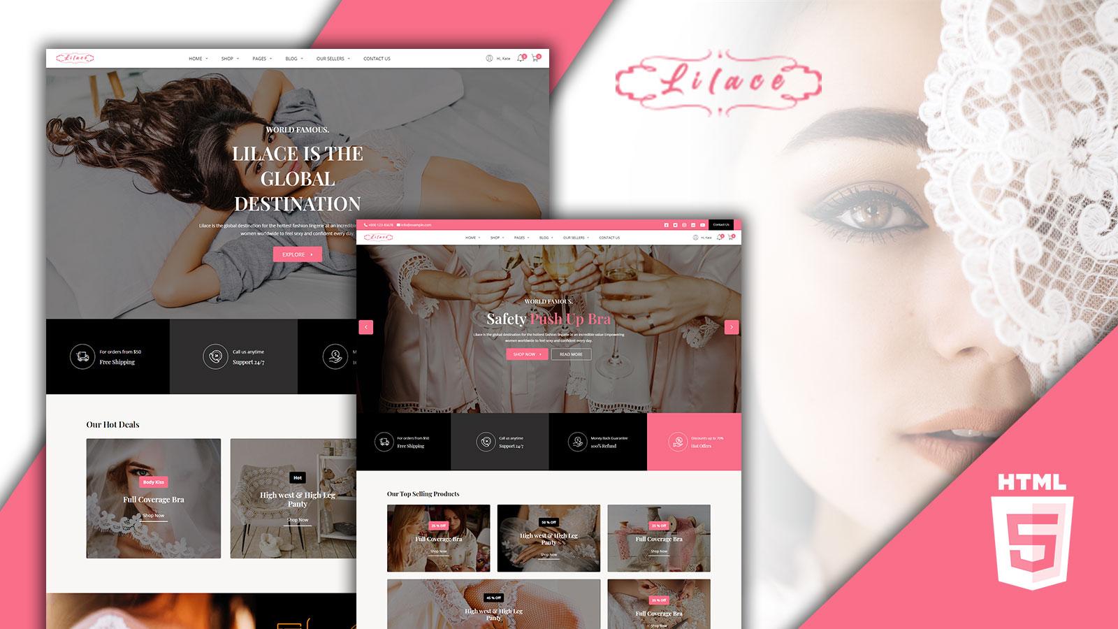 Lila - HTML-sjabloon voor lingerie