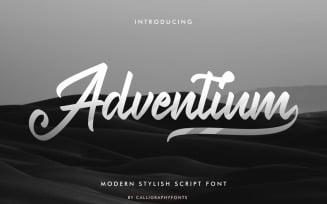 Adventium Modern Calligraphy Font