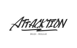 Attacktion Handmade Textured Brush Font