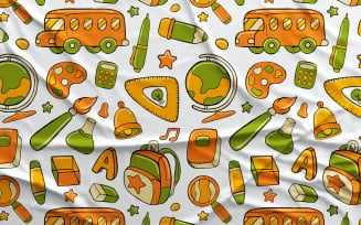 Back to School #01 - Vector Seamless Pattern