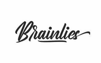 Brainlies Brush Calligraphy Font