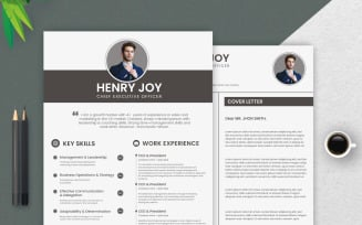 Clean and Professional CV Resume Template.