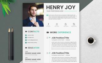 Clean - CV Resume Template