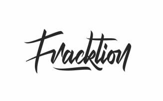 Fracktion Handmade Calligraphy Font