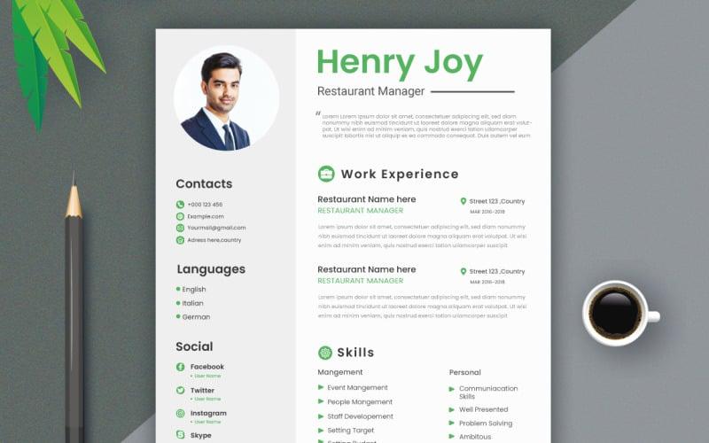 Free Professional CV Resume Template