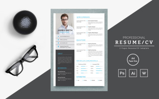 James Smith – Web Designer Resume Template