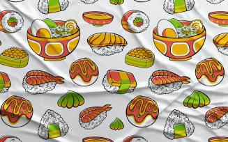 Japan Food #01 - Vector Seamless Pattern