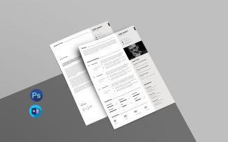 Jone Printable Resume Template