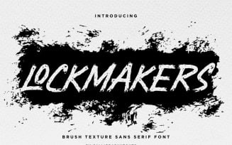 Lockmakers Textured Brush Font