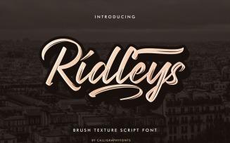 Ridleys Handmade Brush Font