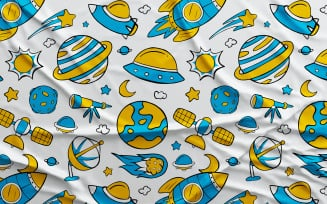 Space #01 - Vector Seamless Pattern