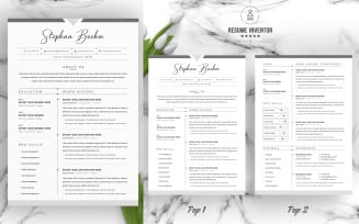 Stephan / CV Template Printable Resume Templates