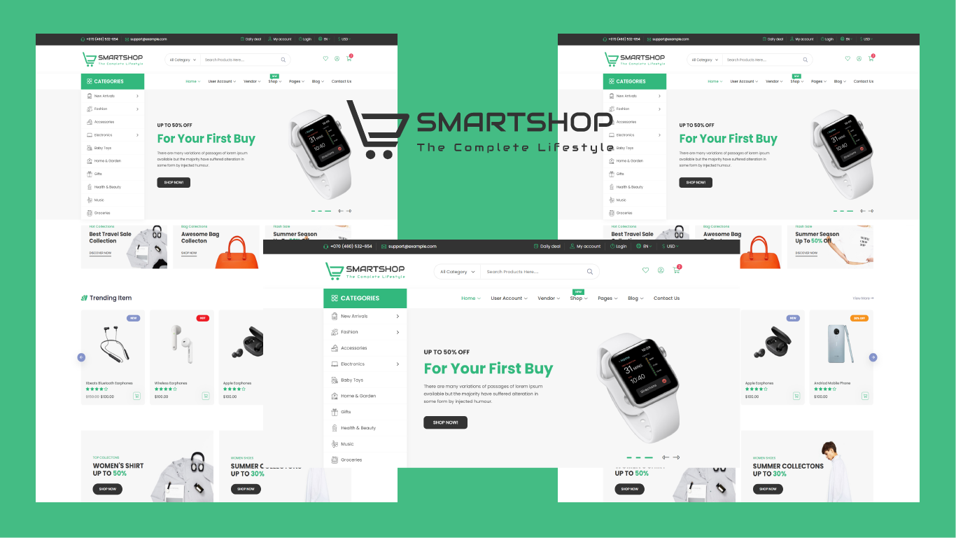 Smartshop - eCommerce Bootstrap 5 HTML5 Template
