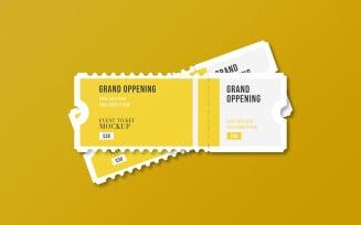 Elegant Event Ticket Mockup