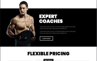 Gym Build Your Body Strong Elementor Kit
