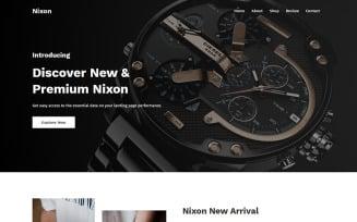 Nixon - Watch Landing Page Template