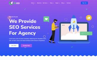 Sceo - Digital Marketing Agency Website Template