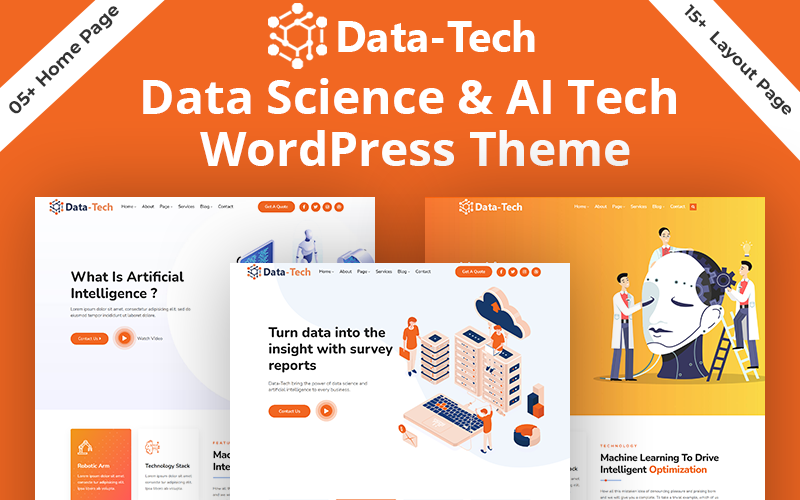 DataTech - Data Science & AI Tech And IOT HTML5 Template