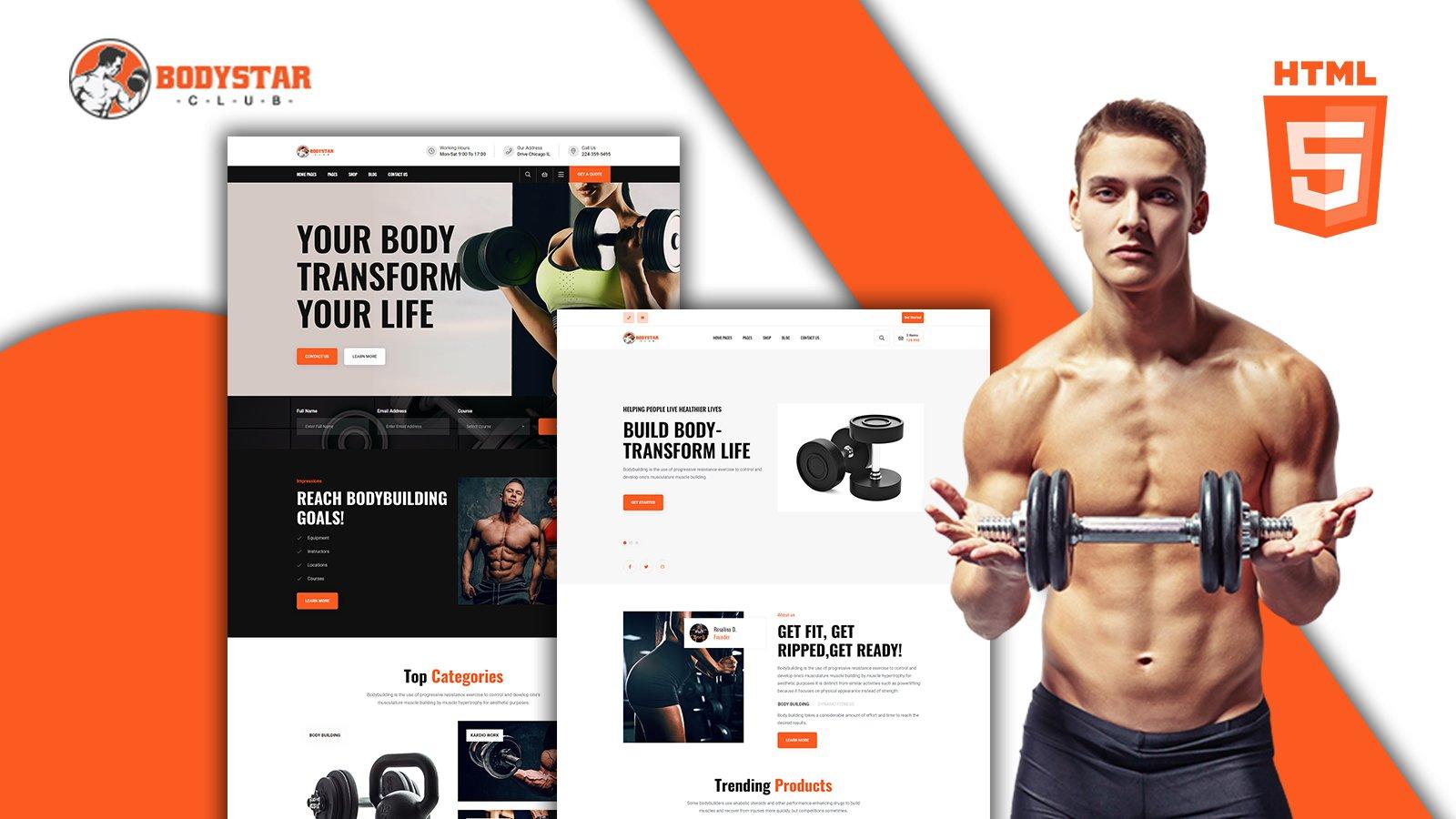 Bodystar - Gymnasium HTML-sjabloon