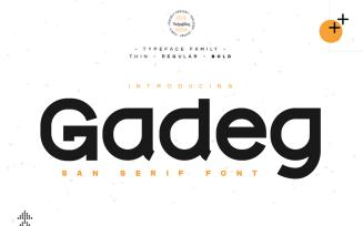 Gadeg - Modern San Serif Font