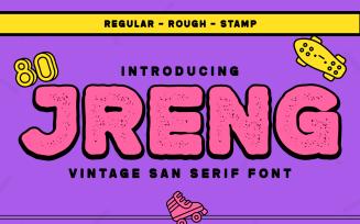 Jreng - Vintage San Serif Font