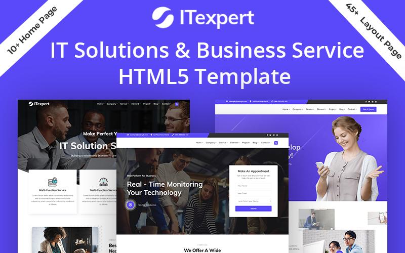Modelo de site HTML5 para especialista em solução de TI para serviços comerciais