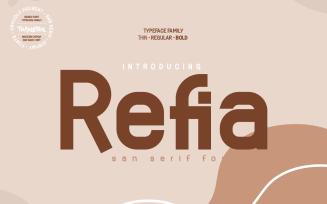 Refia - Elegant San Serif Font