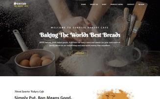 Sunrise - Bakery Landing Page Template