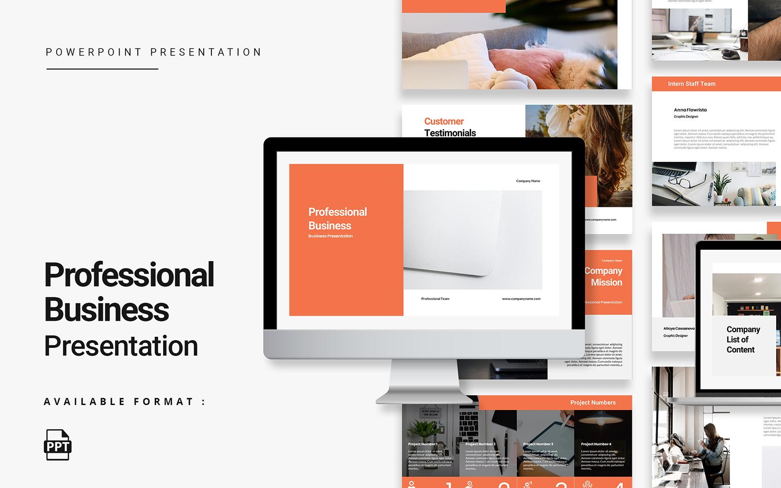 Minimalist Professional Business PowerPoint Template