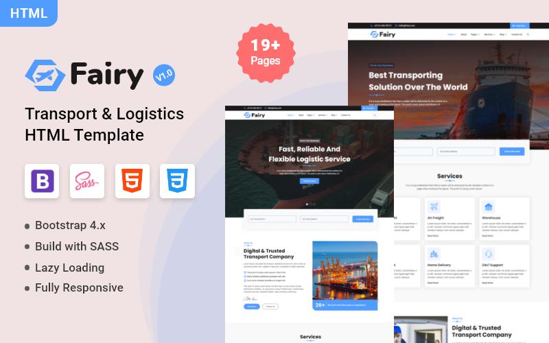 Fairy - Transport & Logistics HTML Website Template