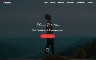 Antro - Personal Portfolio HTML Landing Page Template