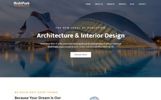 ArchiPark - Architecture & Interior Landing Page Template
