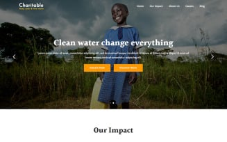 Charitable - Water Crisis Charity Landing Page Template
