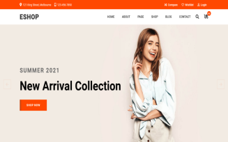eShop - eCommerce Bootstrap 5 Multipurpose HTML5 Template