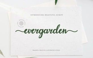 Evergarden Beautiful Script Fonts