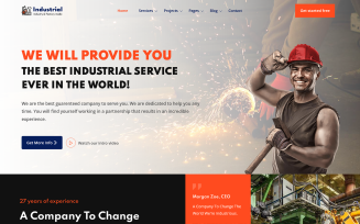 Industrial - Industry and Factory HTML Website Template