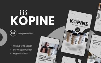 Kopine - Coffee Instagram Stories Template