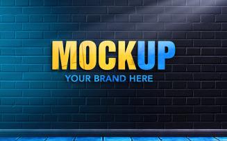 Logo Mockup Design in Brick Wall