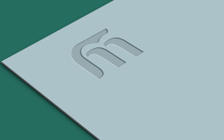 Luxury Paper Logo Mockup Design
