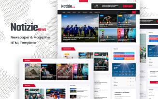 Notizie   Newspaper & Magazine HTML Template