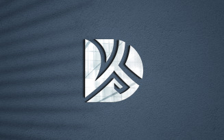 Photorealistic 3d Logo Mockup